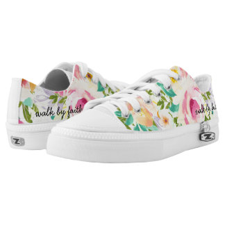 Walk By Faith | Floral Zipz Low Top Shoes Printed Shoes