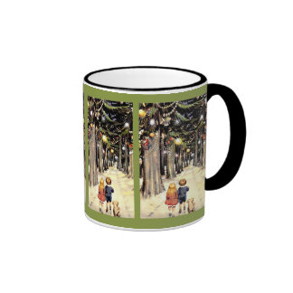 Walk Down Christmas Memory Lane Ringer Mug