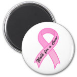 Walk for a Cure Pink Ribbon Magnet