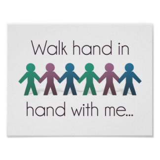 """Walk Hand in Hand 11"""" x 8.5"""" Poster"""