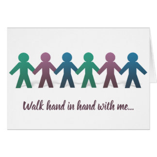 Walk Hand in Hand Blank Greeting Card