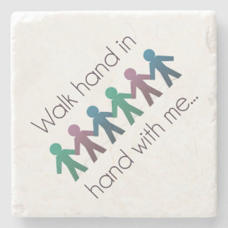 Walk Hand in Hand Marble Stone Coaster