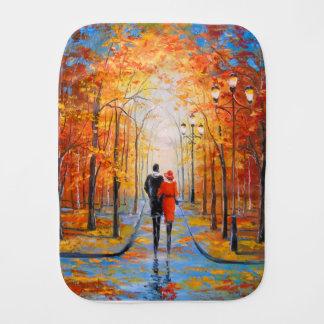 Walk in autumn Park Burp Cloth
