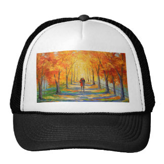 Walk in autumn Park Cap