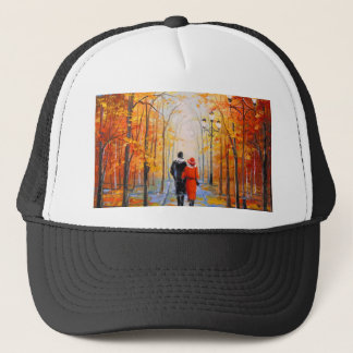Walk in autumn Park Trucker Hat