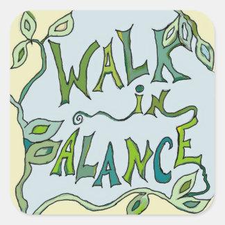 walk in balance sticker