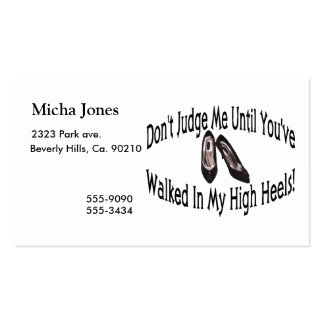 Walk In My High Heels Pack Of Standard Business Cards