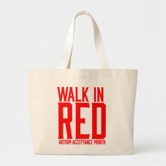 Walk in Red Autism Acceptance Tote Bag