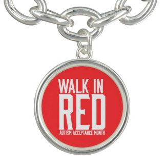 Walk in Red Charm Bracelet
