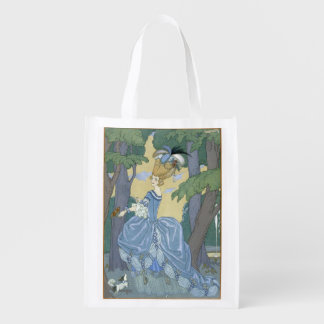 Walk in the Forest, illustration for 'Fetes Galant Market Tote