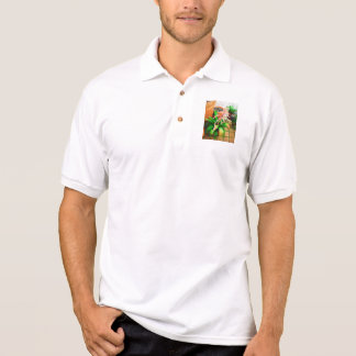 Walk in the Garden  - Bromeliad and lipstick palm Polo Shirt