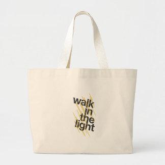 Walk In The Light Jumbo Tote Bag