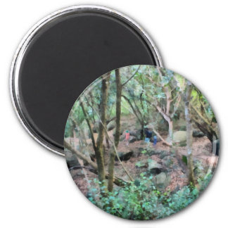 Walk in the woods 6 cm round magnet