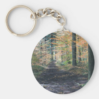 """Walk In The Woods"" Basic Round Button Key Ring"