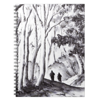 walk in the woods ink wash landscape drawing note books