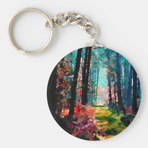 Walk in the Woods Key Chain