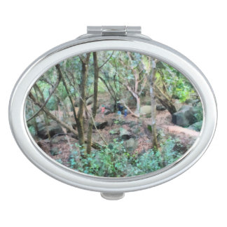 Walk in the woods travel mirror
