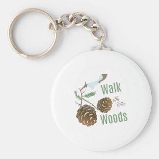 Walk In Woods Basic Round Button Key Ring