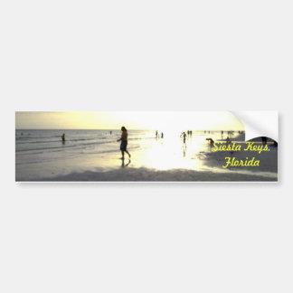 Walk Into The Siesta Key Sunset Car Bumper Sticker