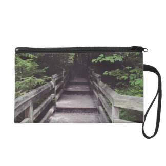 walk into the woods wristlet purse