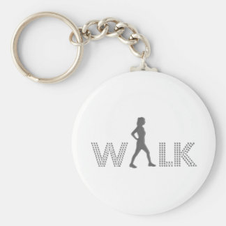 Walk Basic Round Button Key Ring
