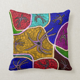 Walk Of The Huntsman Spider Dot Art, Cushion