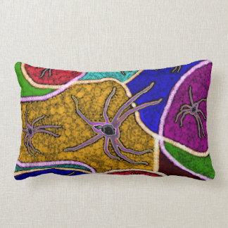 Walk Of The Huntsman Spider Dot Art, Lumbar Cushion