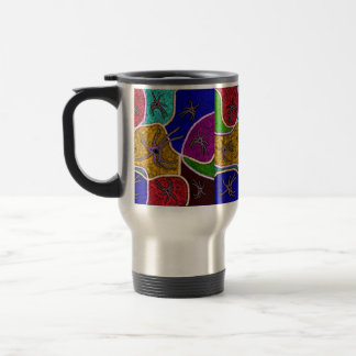 Walk Of The Huntsman Spider Dot Art, Travel Mug