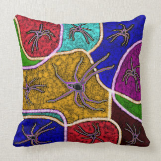 Walk Of The Spider Colorful Dots Big Throw Cushion