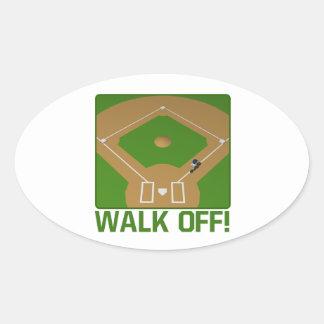 Walk Off Oval Sticker