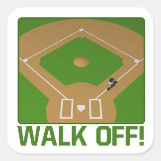 Walk Off Square Sticker