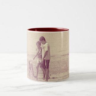 Walk on the Beach Two-Tone Coffee Mug