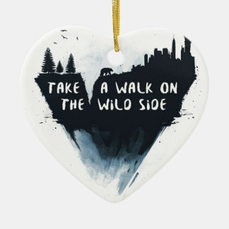 Walk on the wild side christmas ornament