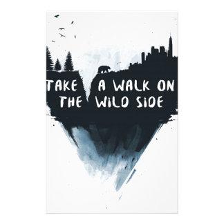 Walk on the wild side custom stationery