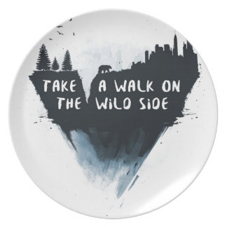 Walk on the wild side party plates