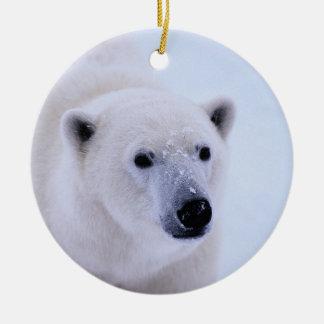 Walk on the Wild Side - Polar Bear Double-Sided Ceramic Round Christmas Ornament