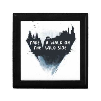 Walk on the wild side small square gift box