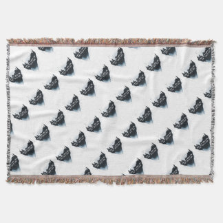Walk on the wild side throw blanket
