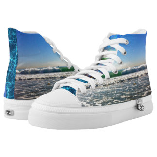 walk on water. printed shoes