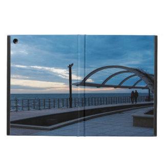 Walk path along the blue sea case for iPad air