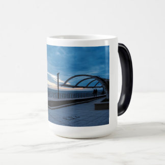 Walk path along the blue sea magic mug