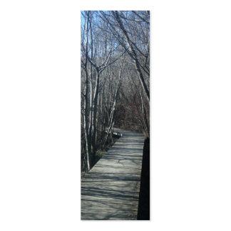 Walk Path Nature Bookmark Business Card Template