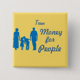 walk, Team, Money, for, People 15 Cm Square Badge