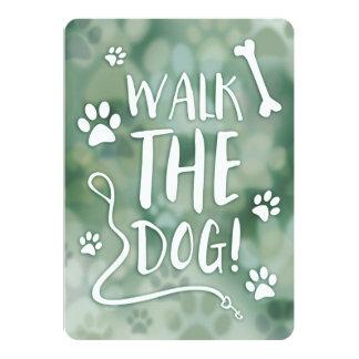 walk the dog 13 cm x 18 cm invitation card
