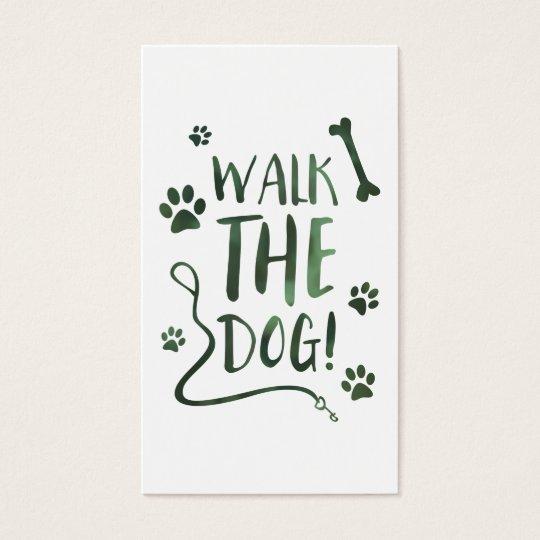 walk the dog business card
