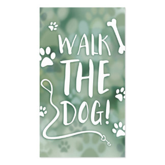 walk the dog loyalty card bokeh pack of standard business cards