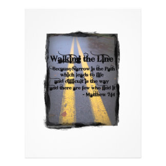 Walk The Line Custom Flyer
