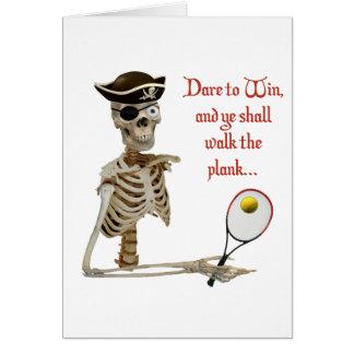 Walk the Plank Pirate Tennis Card