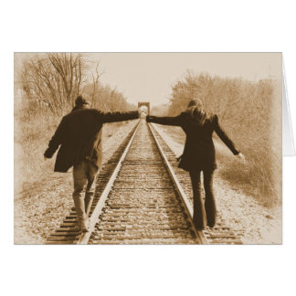 Walk the Rails Together - Blank Inside Card