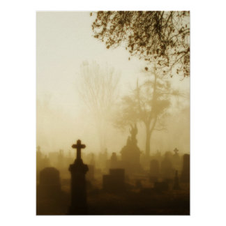 Walk Through The Foggy Graveyard Posters